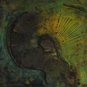 Sky, Earth and Time-Qu Qianmei Solo Exhibition, 2012; L-14, mixed media, 80cmx100cm