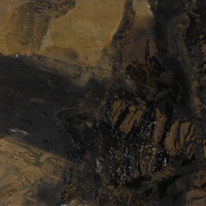 Sky, Earth and Time-Qu Qianmei Solo Exhibition, 2012; L-15, mixed media, 130cmx180cm