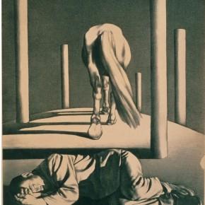 Su Xinping, Lying Man and the Horse Walking away, 1988; 50.5x62cm