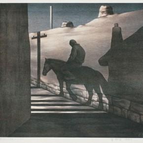 Su Xinping, Peaceful Town No.7, 1992; 71×52cm