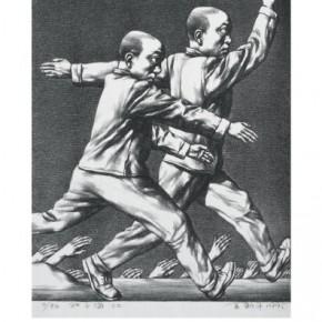 Su Xinping, The Sea of Desires No.3 12/50, 1995; lithograph, 42.5×34.5cm