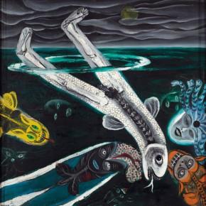 Sun Liang, Hidden, 1990; oil painting, 110x120cm