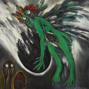Sun Liang, Jingwei Bird, 1989; oil painting, 112x112cm