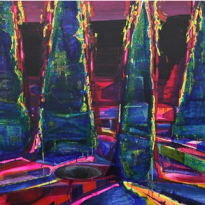 Trees, 2012; oil and acrylic on canvas, 208X336cm