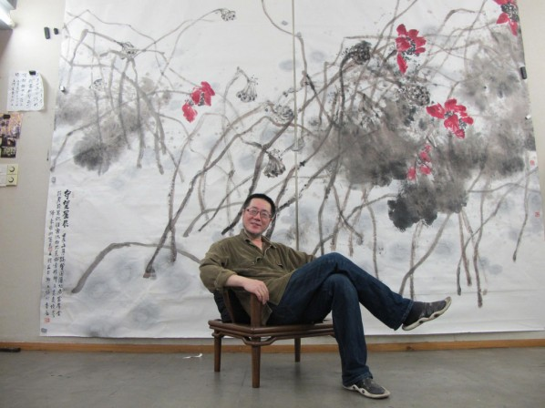 Wang Huangsheng was with his Carefree Series at his studio in 2012