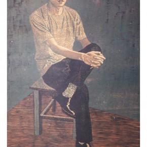 Wang Huaxiang, Figure; colored woodcut, 53.5×36cm