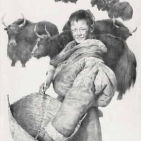 Wu Changjiang, Ga Boy, 1984; lithograph, 76cm×56cm