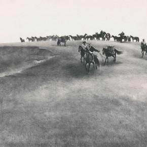 Wu Changjiang, Qinghai Prairie, 1992; lithograph, 56cm×76cm