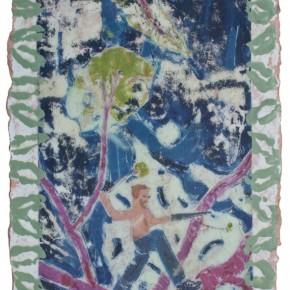 Yan Bo, Gardener, 2010; painting, 20×30cm