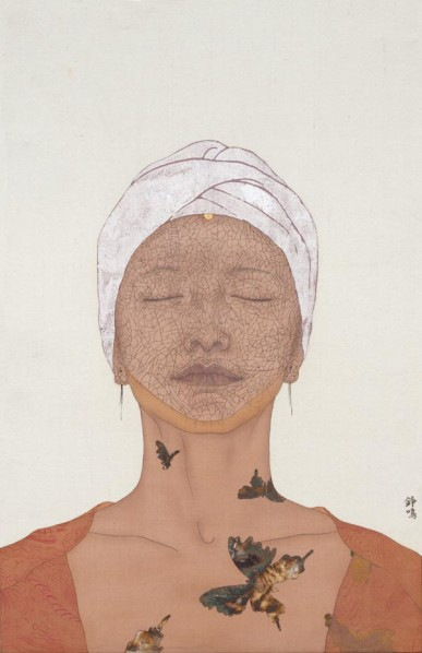 Zhu Zhengming, One Hundred Years of Solitud No.38, 2012; mixed media on silk, 33x52cm
