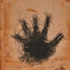 01 Golden Lifeline, Artist: Zhao Rong, 2011; Serigraph, 11.8×11.8 in