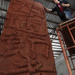 03 Ying Tianqi, Brick Soul 02, 2012; Mixed Media, 310 x 96 x 322cm