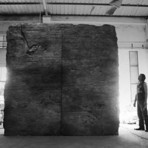 04 Ying Tianqi, Brick Soul 03, 2012; Mixed Media, 310 x 96 x 322cm