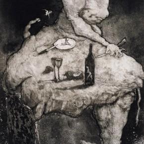 05 Banquet, Artist Qin: Guanwei, 2005; Copper Etching, 50×35.5cm
