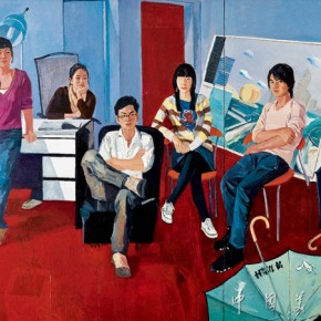 21. Jiao Xiaojian, Post 80s, 2009-2012; oil painting, 220×180cm