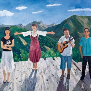 23.The Call and The Welcome Author: Jiao Xiaojian; Year: 2010-2012, Size: 263×200cm