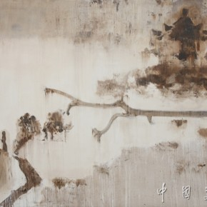 29. Eight famous scenes of Xiaoxiang•Wild geese rest on the Pavillion Author: Jing Shijian; Year: 2012, Size: 250×400cm