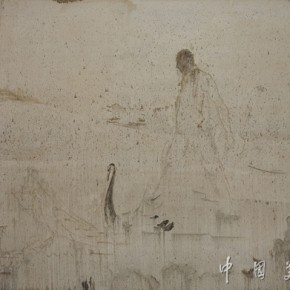 33.Eight famous scenes of Xiaoxiang•Boating at the center of the lake Author: Jing Shijian; Year: 2012, Size: 250×400cm