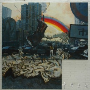38.Xu Lingya's Setting Sun Author: Li Dafang; Year: 2012, Size: 285×290cm