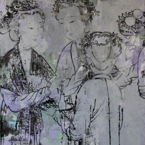 Chinese Ancient Beauty No.1206, 135 x 116 cm, 2012