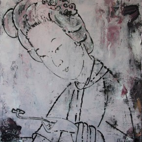 Chinese Ancient Beauty No.1207, 135 x 116 cm, 2012