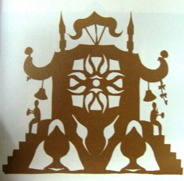 Figure 10. Andersen's improvised paper-cut, Oriental Palace