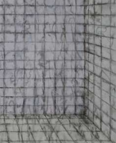 Jiang Weitao, Bathroom, No.2, 2012; Ink on paper, 69×32cm