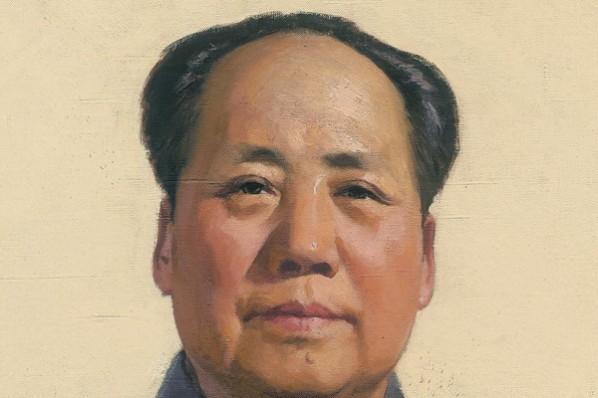 Jin Shangyi, Portrait of Chairman Mao(detail), 1966; oil on canvas, 262×137cm