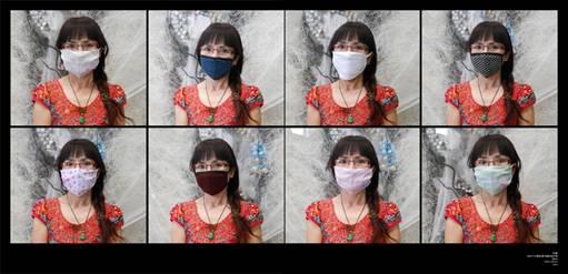 Ma Hui, Mask, 2012; 7500×250cm