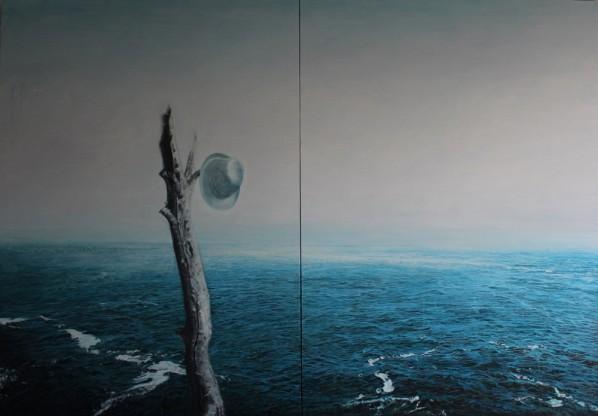Yu Hongchun, A Legend, 2010; oil on canvas, 180x260cm
