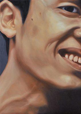Zhang Shujian, Face Silhouette 02, 2012; oil on board