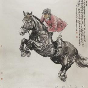 01 Ride the Clouds, Artist: Bi Jianxun; Chinese Painting, 180cm×200cm