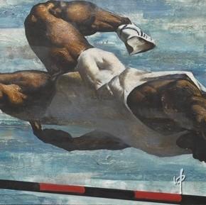 06 Going Beyond, Artist: Sun Tao; Oil Painting, 176cm×80cm