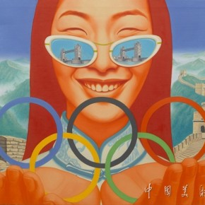 07 Olympic Girl, Artist: Xu Deqi; Oil Painting, 130cm×100cm