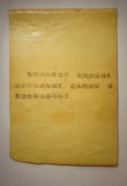 Inpediment to Reading-1, 2012;  sponge,  204×137cm