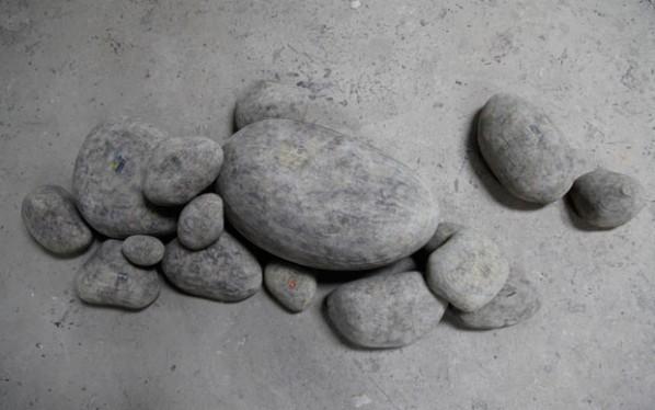 Li Hongbo, Stone, 2012; paper, Dimensions variable