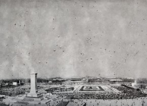 Zhang Huan, 1959 National Day, 2010; Ash on linen, 430×1000cm