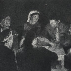 Zhang Huan, Division Meeting, 2009; Ash on linen, 250×400cm