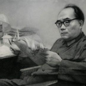 Zhang Huan, Fire, 2008; Ash on linen, 160×250cm