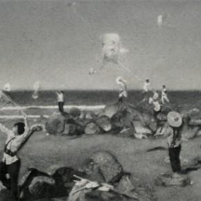 Zhang Huan, Kite Call, 2008; Ash on linen, 160×250cm