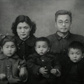 Zhang Huan, Our Parents, 2008; Ash on linen, 286×360cm