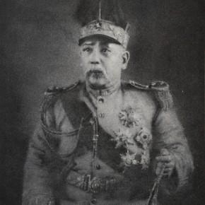 Zhang Huan, President Yuan, 2010; Ash on linen, 250×200cm