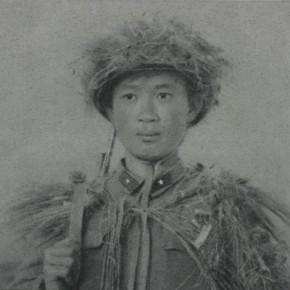 Zhang Huan, Soldier, 2008; Ash on linen, 160×150cm