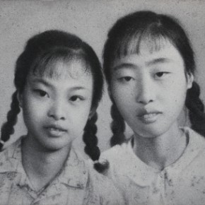 Zhang Huan, Sworn Sisters, 2011; Ash on linen, 160×250cm