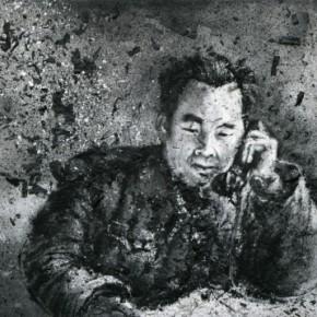 Zhang Huan, Voice from Shan Bei, 2009; Ash on linen, 150×200cm