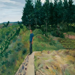 08 Chengzi Standing on the West Ridge, 2010; oil on canvas, 150×140cm; Courtesy of Liu Xiaodong Studio