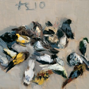 09 Dear Birds, 2010; oil on canvas, 33×38cm; Courtesy of Liu Xiaodong Studio