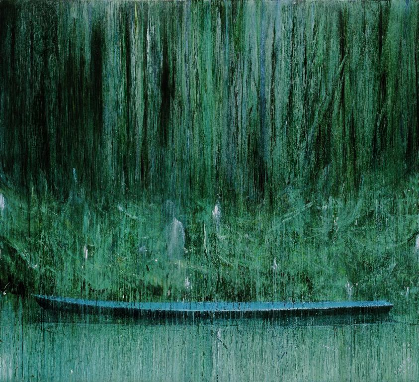 09 jia aili the flowing down scenery 2007 oil on canvas 302x300cm