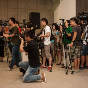 11 The press at the opening ceremony of The First CAFAM• Future Exhibition--Sub-Phenomena Report on the State of Chinese Young Art