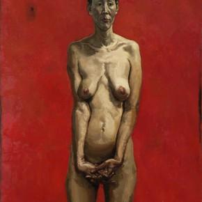 14. Li Dafang, Woman's Portrait, 2012; oil on canvas, 140 x 100 cm
